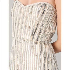 Parker Pinstripe Sequin Maxi dress